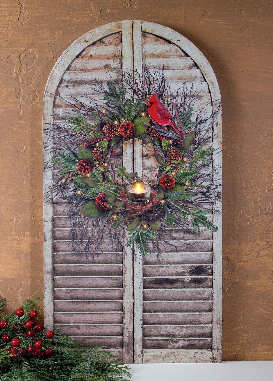 Home Depot Illuminated Canvas : Lighted picture on shutter shaped canvas shelley b home