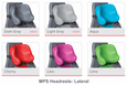 Lateral Headrest Colors
