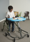 Mobile Activity Tray Sitter Lifestyle - With Walker