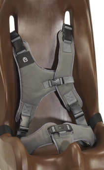 Replacement 8-point harness for size 4 or 5 Sitter. Color: Gray