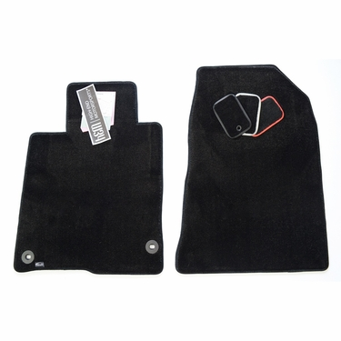 floor textile red oem audi rear mats stitching