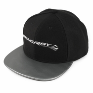 C7 Stingray Fitted Silver Carbon Fiber Black Hat
