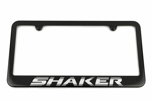 Challenger R/T Shaker Satin-Black License Plate Frame