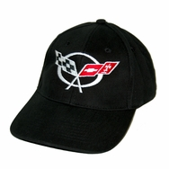 Cheverolet Corvette C5 Black Twill Hat