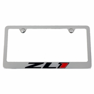 Chevrolet Camaro ZL1 License Plate Frame - Chrome with Engraved Logos