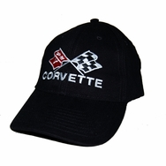 Chevrolet Corvette Classic Black Twill Hat
