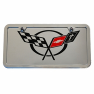 Chevrolet Corvette C5 Chrome Plate Frame Tag - Large Logo