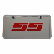 Chevrolet Silverado SS Chrome License Plate Tag Stainless Steel Frame