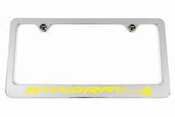 Chevrolet Stingray C7 Yellow License Plate Frame