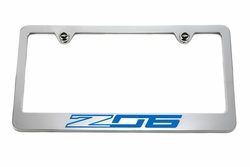 Chevrolet Z06 C7 Blue License Plate Frame