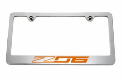 Chevrolet Z06 C7 Orange License Plate Frame