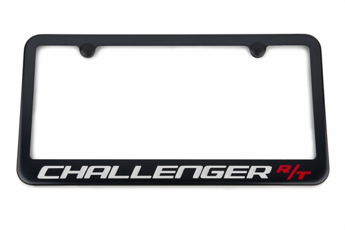 Dodge Challenger R/T Satin-Black License Plate Frame