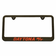 Dodge Charger Daytona R/T Black Chrome Orange License Plate Frame