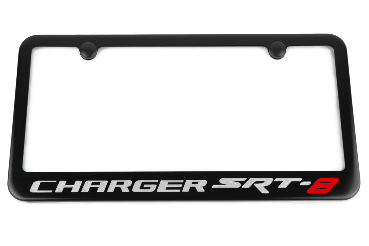 Dodge Charger Srt8 Satin Black License Plate Frame