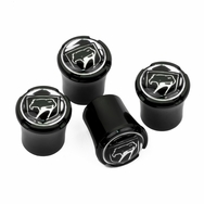Dodge Viper Black Sneaky Pete Logo Black Tire Valve Caps