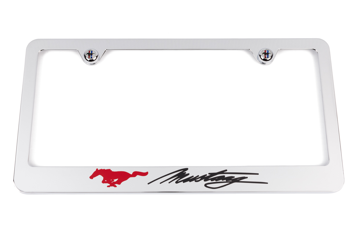 Ford Mustang Chrome License Plate Frame