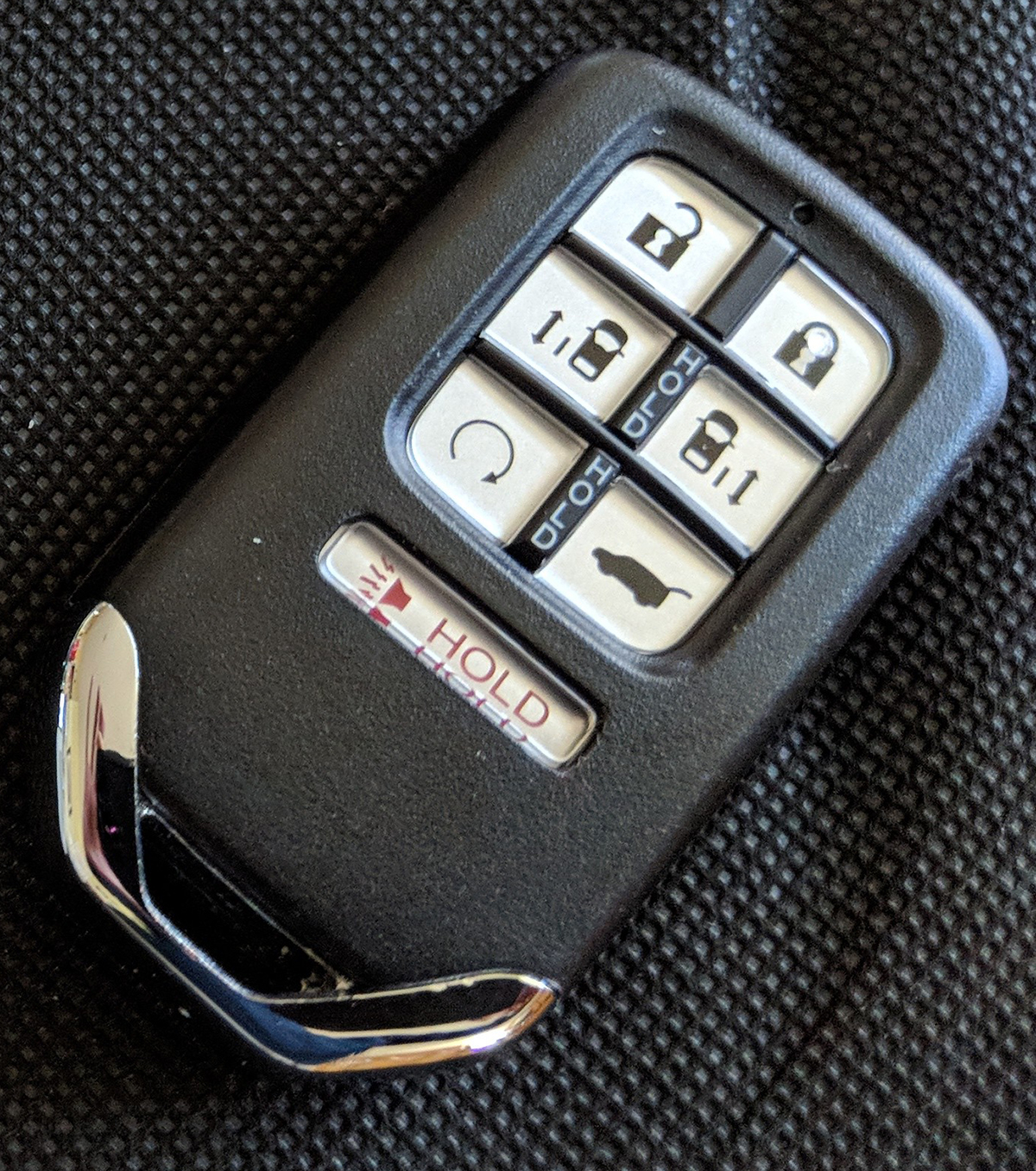 how to open a honda odyssey remote
