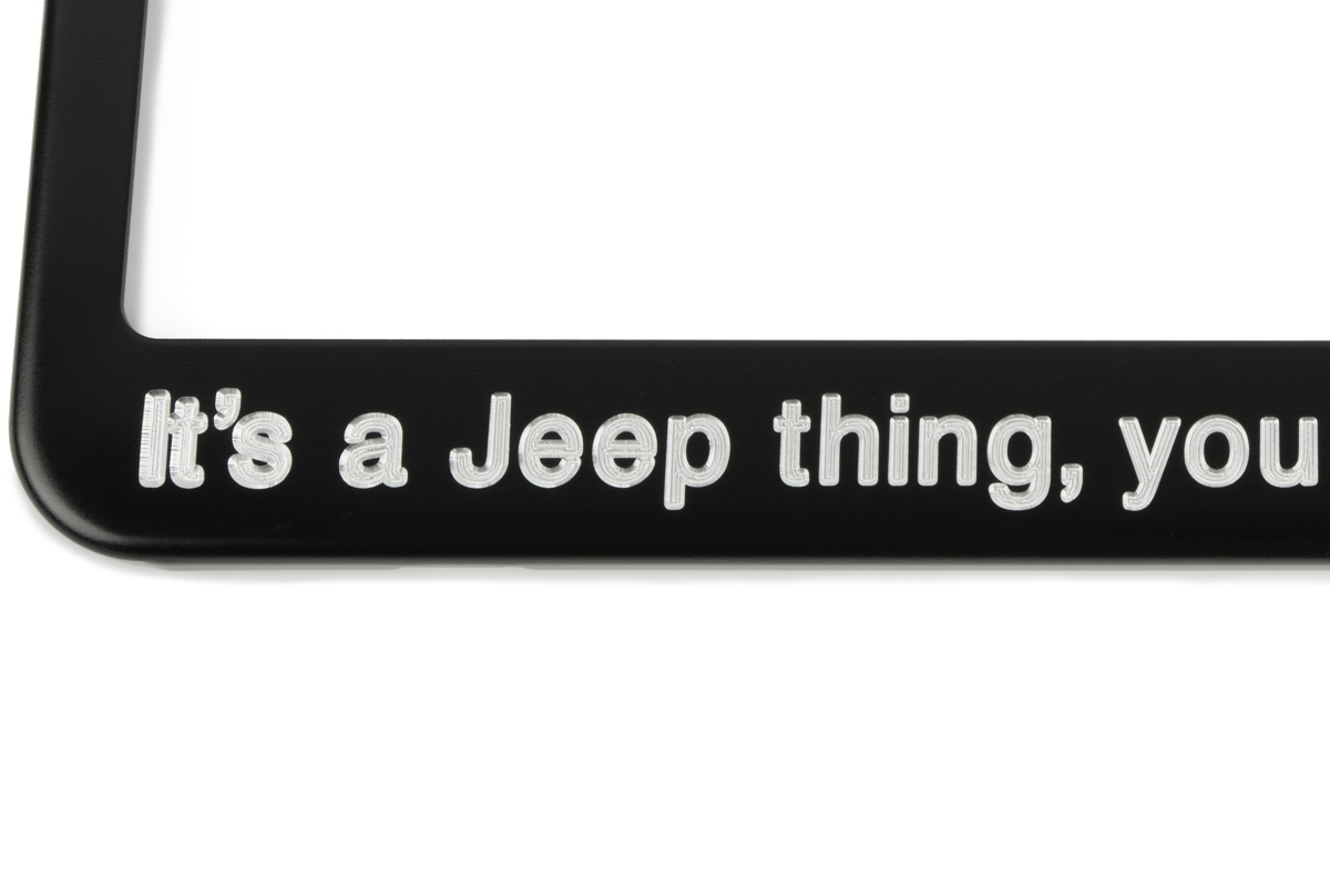 It S A Jeep Thing You Wouldn T Understand Black License