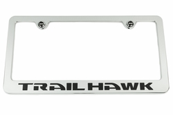 Jeep Trailhawk Chrome License Plate Frame