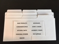 9 Blank Dividers with Custom Labels