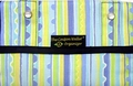 """The Coupon Wallet®<br>Deluxe Organizer<br>Blue Lime Stripes<br><font color=""""red""""><b>LAST ONE AVAILABLE</font color></b>"""