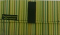 "The Coupon Wallet®<br>Basic Organizer<br>Green Brown Stripe<br><font color=""red""><b>LAST ONE</font color></b>"