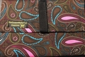 The Coupon Wallet®<br>Basic Organizer<br>Brown Pink Blue Paisley