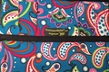 The Coupon Wallet®<br>Deluxe Organizer<br>Teal Paisley