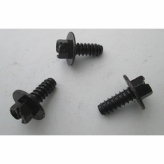 "1/4""(#14) 5/16 Indented Hex Head License Plate Screws Slotted Black Finish (25)"