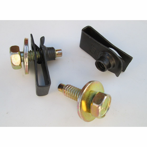 """1/4""""-20 X 7/8"""" Fender Bolts & Extruded U-Nuts 25/32 Hole Center"""