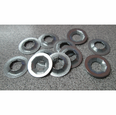 "1/4"" Flat Push-On Retainers Push Nuts Plated"
