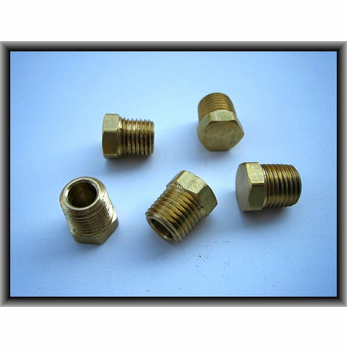 "1/4"" Hex Head Brass Plugs (5)"