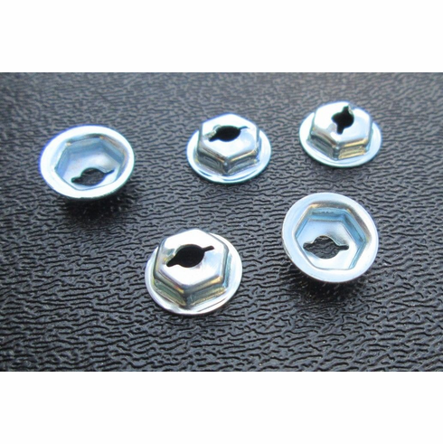 """1/8"""" 7/16"""" OD 5/16"""" Hex Washer Thread Cutting Nuts Emblems Moulding Retainers"""