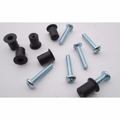 10-24 Rubber Well Nuts 10-24 X 3/4 Screws windscreen (8 Sets)