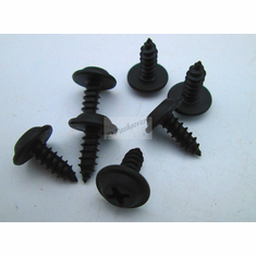 "10 x 1/2"" Phillips Flat Top Black Finish Trim Screws (50) 15/32"" OD Washer"