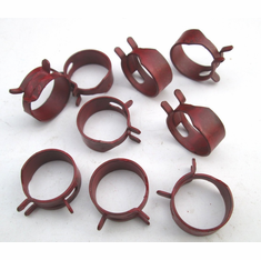 """11/16"""" OD Hose Clamps Spring Action Clamps (25) 5/16"""" Width"""