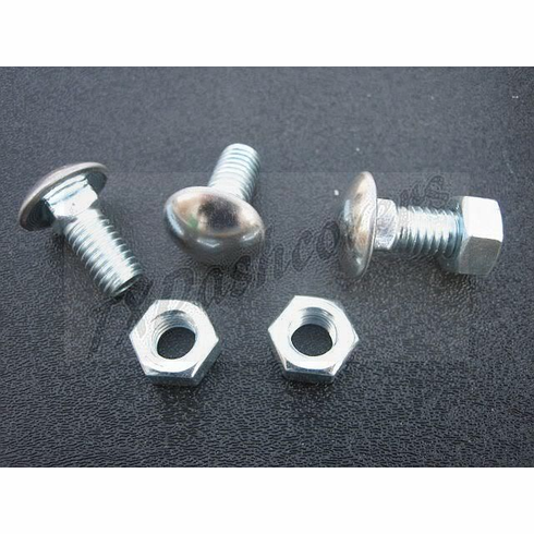 """1969 Chevelle Bumper Bolts W/Hex Nuts 7/16""""-14 x 1"""" SS Capped Round Head (9)"""