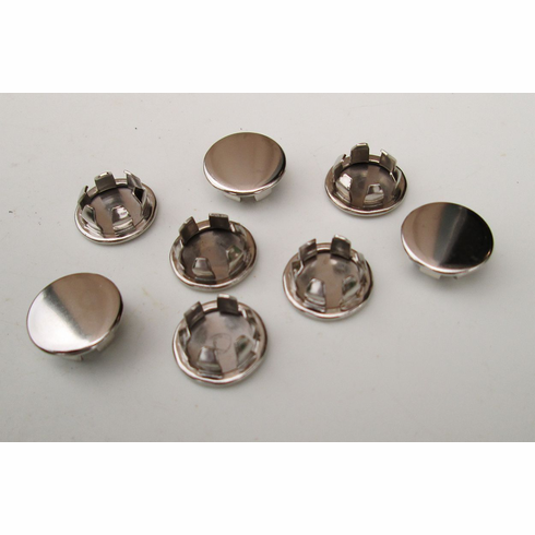"""3/8"""" Nickel Plated HOLE PLUGS Plug Buttons (10) Boat Car Truck Panel Plugs"""