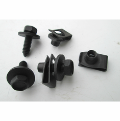 """5/16""""-18 X 1"""" Fender Bolts & Extruded U-Nuts 5/16-18 .010-.165 Loose Washer"""