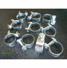 "5/16"" TO 3/8"" Miniature Hose Clamps Type-G  ZINC (10)"