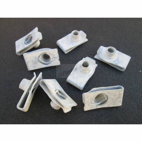 """6-1.00 MM Speed Nuts Extruded U-Nuts Clips Prevailing Torque 9/16"""" Hole to edge"""