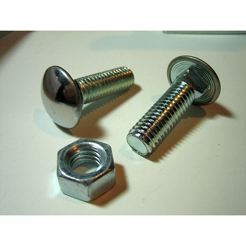 "7/16""-14 X 1-1/2""  BUMPER BOLTS Steel Cap Round Head"