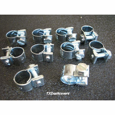 "7/16"" TO 1/2"" Miniature Hose Clamps Type-G ZINC (10)"