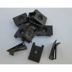 #8 Screw Size Black Extruded U-Nuts .020-.150 Panel Range