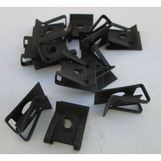 #8 Screw Size U-Nuts Black Extruded .125-.250 Panel Range