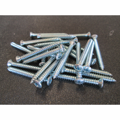 "#8 X 1-1/2"" #6 HD Zinc Phillips Oval Head Tapping Screws"