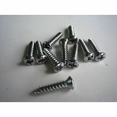 """#8 X 3/4"""" Phillips Head (Chrome) Tapping Screws (50)"""