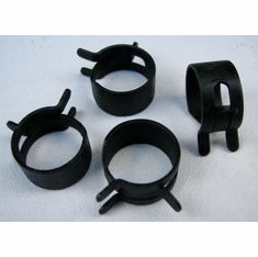 "9/16"" OD Spring Action Hose Clamps (25)"