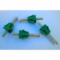 "Chevrolet GM Cars Headlight Adjusters Green Nylon 4-Pcs 2"" Screws"