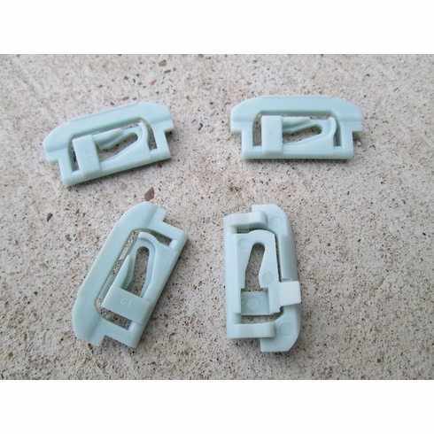 Chevy GM 1974-On Blue Nylon Windshield Rear Glass Reveal Moulding Clips